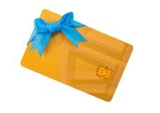 Gold bank card Stock Photos