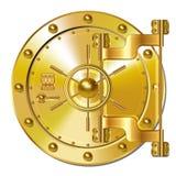 Gold Bank doors Royalty Free Stock Photos