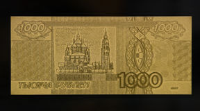 Gold banknote Stock Image