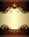Gold banner royalty free illustration