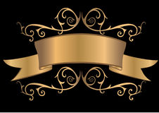 Gold banner Royalty Free Stock Image