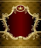 Gold banner Royalty Free Stock Photography