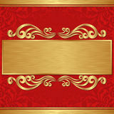 Gold banner Royalty Free Stock Photos