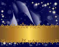 Gold Banner And Stars. Stock Photography