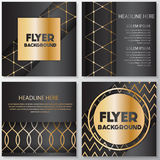 Gold banner background flyer style Design Template stock illustration