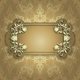Gold banner with beautiful pattern Stock Photos