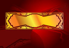 Gold Banner Classic Style. Royalty Free Stock Image