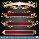 Gold banner elements Royalty Free Stock Photography