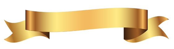 Gold Banner For Design In Vector Stock Photography