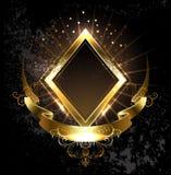 Gold banner rhombus Royalty Free Stock Image