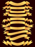 Gold banner set stock images