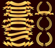 Gold  banner set Stock Photo