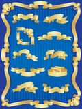 Gold banner set Royalty Free Stock Image