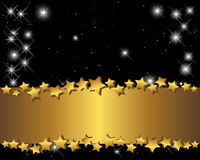 Gold banner and stars. Royalty Free Stock Photography