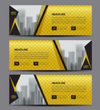 Gold Banner template vector, Horizontal header, advertising. Business flyer layout, website Royalty Free Stock Photo