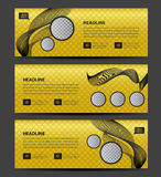 Gold Banner template vector, Horizontal header, advertising. Business flyer layout, website Royalty Free Stock Images