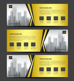 Gold Banner template vector, Horizontal header. Orange Banner template vector, Horizontal header, advertising, business flyer design, poster, ads Royalty Free Stock Photo