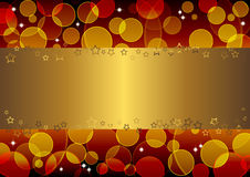 Gold banner. vector 10eps. Stock Photography