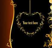 Gold banner vector Royalty Free Stock Photos