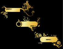 Gold banner vector Stock Photo