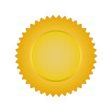 Gold banner.  Stock Images