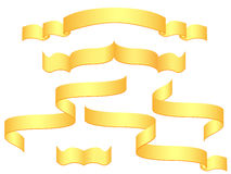 Gold banners. Isolated on white background  illustration Royalty Free Stock Image