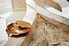 Gold Baptistery Ladle or Vessel Stock Photo