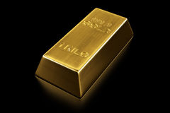 Gold bar. 3d rendering of a gold bar Stock Photography