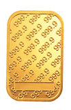 Gold bar. A shot of a 999.9 gold bar Stock Images