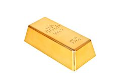 Gold bar. On a white background Stock Photography