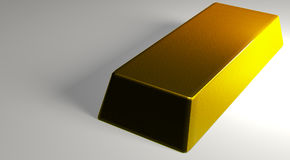 Gold bar. A 3D model of a gold bar with nice bump mapping added stock illustration