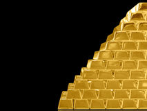 Gold bar. Stock Photo
