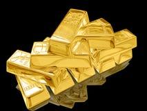 Gold bar. Stock Photos