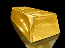 Gold bar. Royalty Free Stock Photo