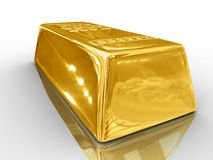 Gold bar. Stock Photos
