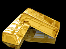 Gold bar. Stock Images