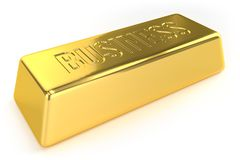 Gold Bar - Business royalty free illustration