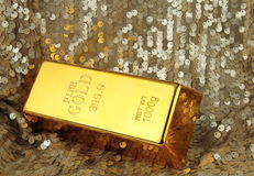 Gold bar. Close up image Stock Image