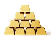Gold bar. Isolated on a white background. 3d illustration vector illustration