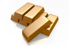 3D gold bars� Stock Image