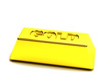 Gold bar isolated Royalty Free Stock Photography