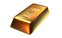 Gold Bar Isolated Stock Photo
