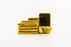 Gold bar. Royalty Free Stock Photography