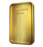 Gold bar isolated on white Stock Image