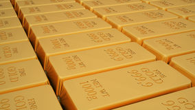 Gold bar isolated on white background Royalty Free Stock Images