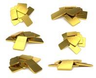 Gold bar isolated on white background. stock image