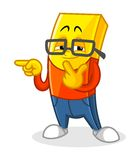 Gold Bar Mascot Cartoon Vector Illustration Cool Rapper Style Royalty Free Stock Images