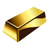 Gold bar over white Royalty Free Stock Photos