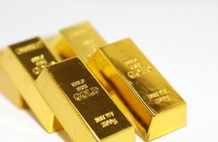 Gold bar coin Stock Images