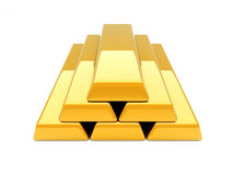 Gold Bar Pyramid Royalty Free Stock Image